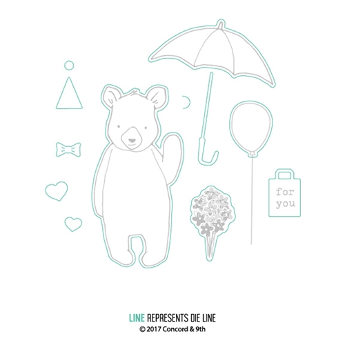 Concord & 9th HI THERE BEAR Dies 10288 Preview Image