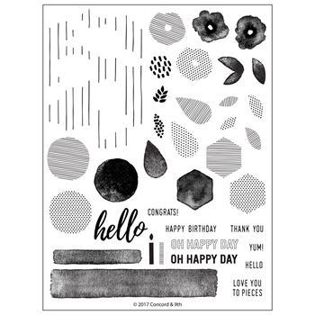 Concord & 9th BITS AND PIECES Clear Stamp Set 10284