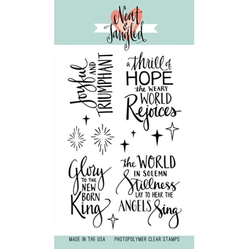 Neat and Tangled JOYFUL SENTIMENTS Clear Stamp Set