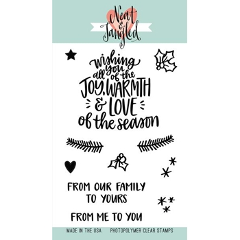 Neat and Tangled WISHING YOU LOVE  Clear Stamp Set