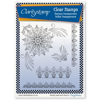 Claritystamp TINA'S HENNA CORNERS Clear Stamps STAPA10563A5