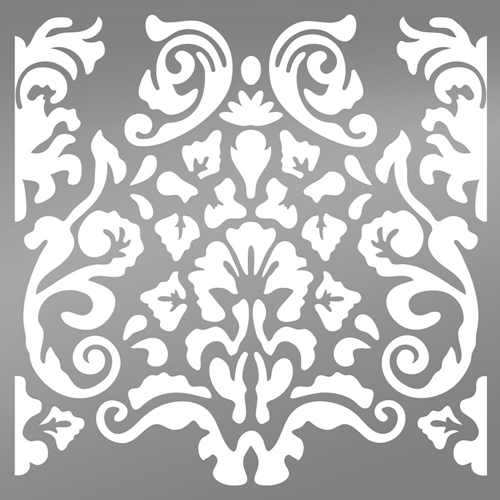 Couture Creations BOHEMIAN DAMASK 6 x 6 Stencil Bohemian Bouquet ult158039 Preview Image