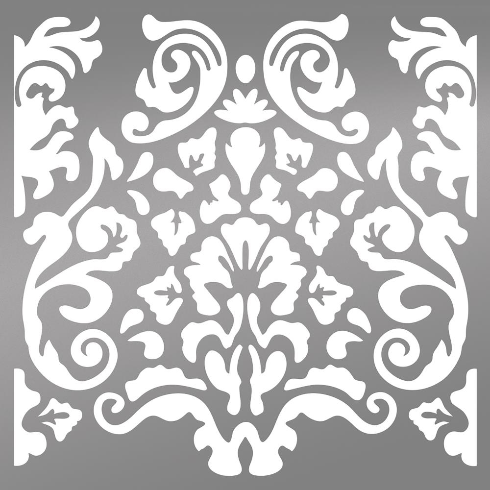 Couture Creations BOHEMIAN DAMASK 6 x 6 Stencil Bohemian Bouquet ult158039 zoom image