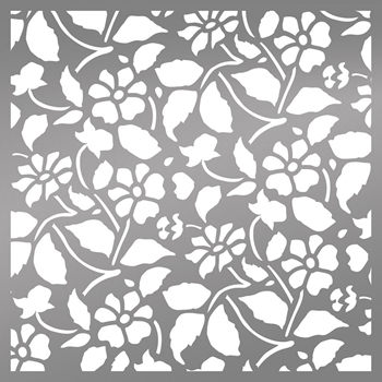 Couture Creations FIELD OF DAISIES 6 x 6 Stencil Bohemian Bouquet ult158038