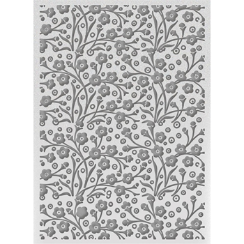 Couture Creations SPECKLED FLOWERS Embossing Folder Bohemian Bouquet ult158032