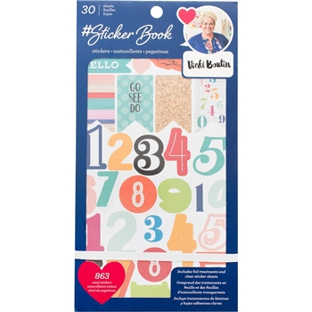 American Crafts VICKI BOUTIN #Sticker Book Stickers 344864