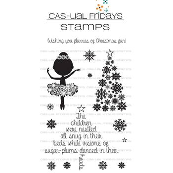 Cas-ual Fridays SUGAR PLUM FAIRY Clear Stamps CFS1723