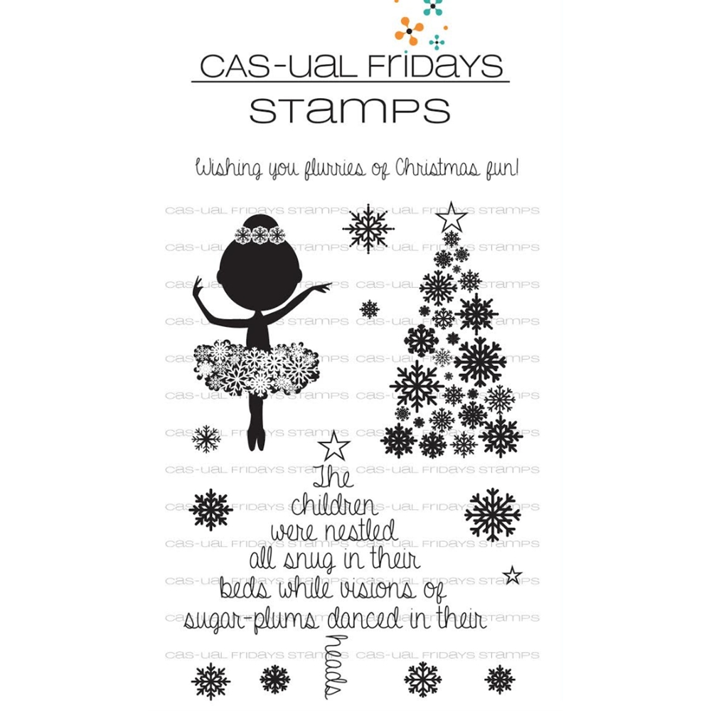 Cas-ual Fridays SUGAR PLUM FAIRY Clear Stamps CFS1723 zoom image