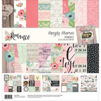 Simple Stories ROMANCE 12 x 12 Collection Kit 9400