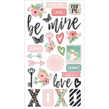 Simple Stories ROMANCE 6 x 12 Chipboard Stickers 9414