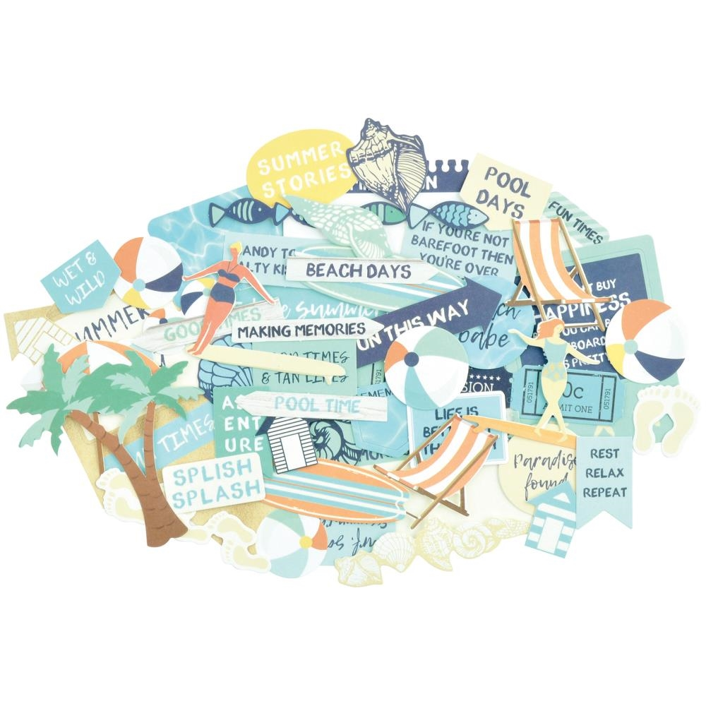Kaisercraft SUMMER SPLASH Collectables Die Cut Shapes CT893 zoom image