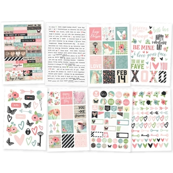 Simple Stories ROMANCE 4 x 6 Stickers 9416