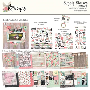 Simple Stories ROMANCE 12 x 12 Collector's Essential Kit 9418