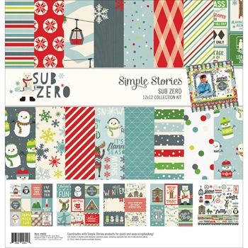 Simple Stories SUB ZERO 12 x 12 Collection Kit 9420
