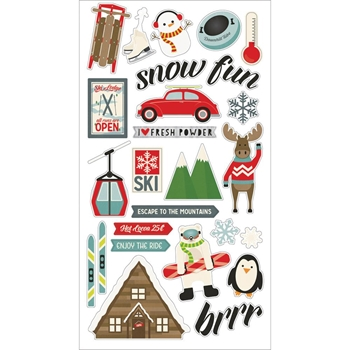 Simple Stories SUB ZERO 6 x 12 Chipboard Stickers 9434