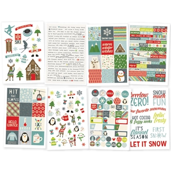 Simple Stories SUB ZERO 4 x 6 Stickers 9436