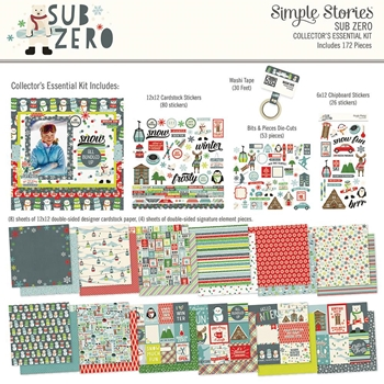 Simple Stories SUB ZERO 12 x 12 Collector's Essential Kit 9438