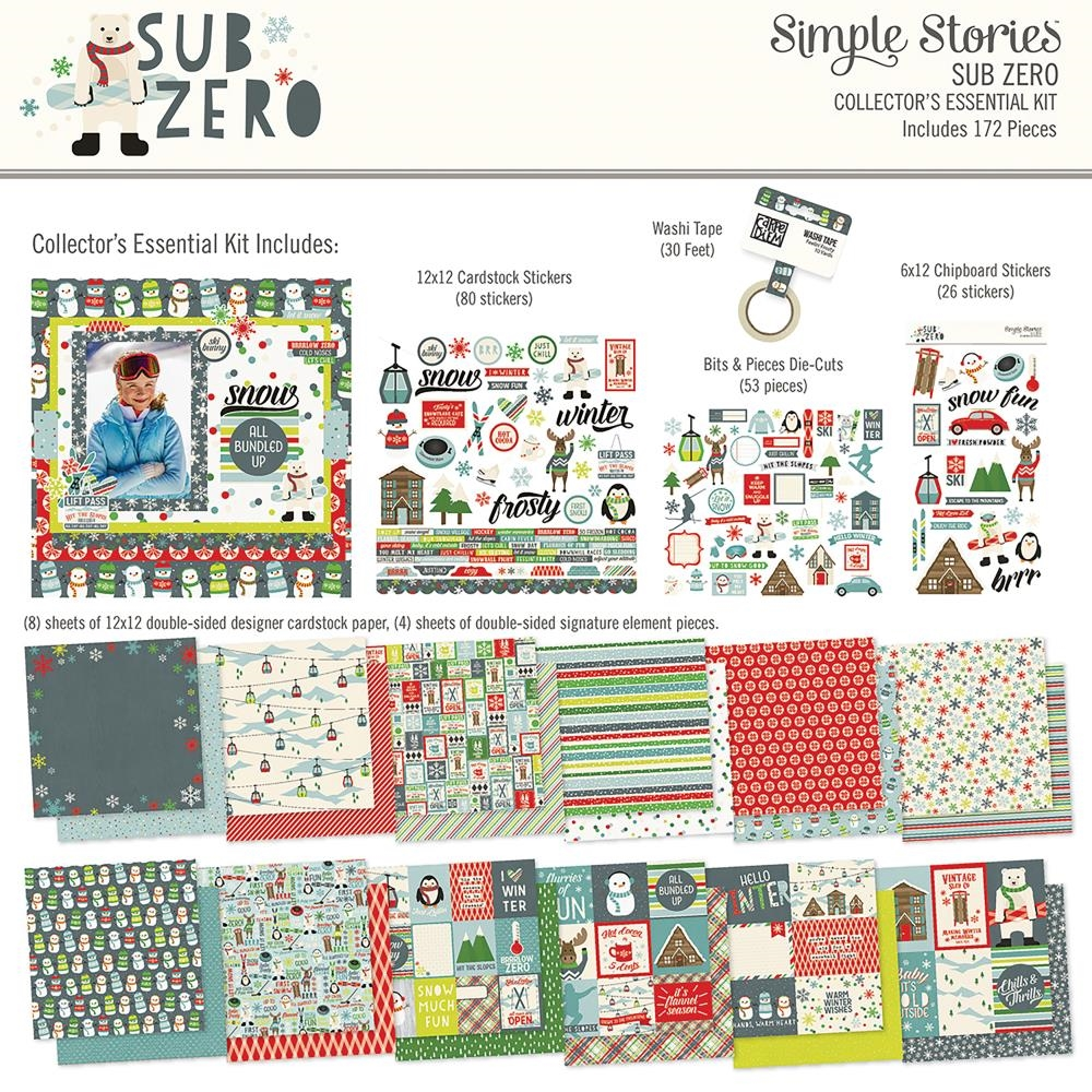 Simple Stories SUB ZERO 12 x 12 Collector's Essential Kit 9438 zoom image