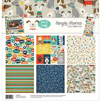Simple Stories LIFE IS RUFF 12 x 12 Collection Kit 9276