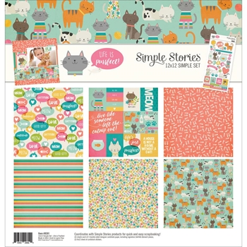 Simple Stories LIFE IS PURRFECT 12 x 12 Collection Kit 9281