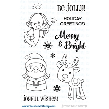 Your Next Stamp MERRY AND BRIGHT Clear cyns610