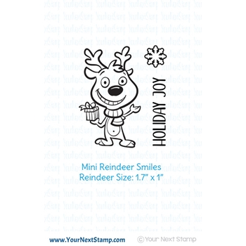 Your Next Stamp MINI REINDEER SMILES Clear cyns625*
