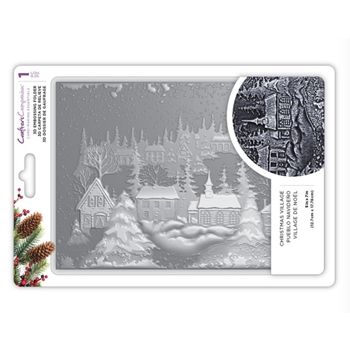 Crafter's Companion CHRISTMAS VILLAGE 3D Embossing Folder ef5-3d-x-vill
