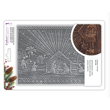 Crafter's Companion SILENT NIGHT 3D Embossing Folder ef5-3d-x-sil