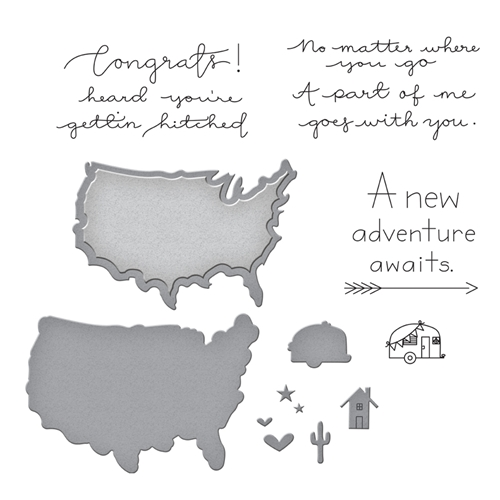 SDS-108 Spellbinders NEAR OR FAR Cling Stamp and Die Set* Preview Image
