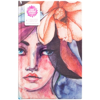 Jane Davenport GIRL PRINT 9x6 Inch Mixed Media Canvas Cover Journal 376866