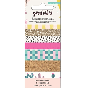 Crate Paper GOOD VIBES Washi Tape 344318*