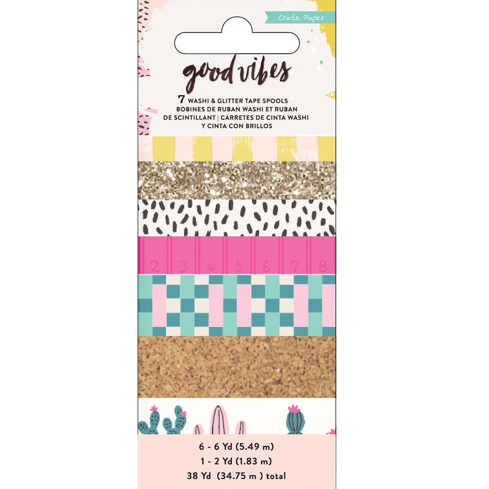 Crate Paper GOOD VIBES Washi Tape 344318* zoom image