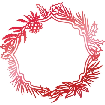 Couture Creations WILD WREATH FRAME Hotfoil Plate Let Every Day Be Christmas co725533