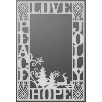 Couture Creations PEACE, LOVE, HOPE, & JOLLY BACKGROUND Die Let Every Day Be Christmas co725516