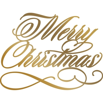 Couture Creations MERRY CHRISTMAS Hotfoil Plate Anna Griffin co725571