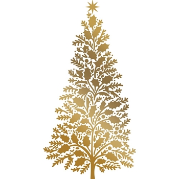 Couture Creations CHRISTMAS TREE Hotfoil Plate Anna Griffin co725575