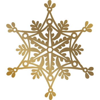 Couture Creations SNOWFLAKE Hotfoil Plate Anna Griffin co725574