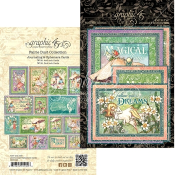 Graphic 45 FAIRIE DUST Journaling And Ephemera Cards 4501645
