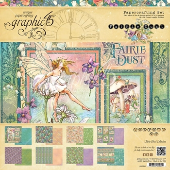 Graphic 45 FAIRIE DUST 12 x 12 Paper Pad 4501641