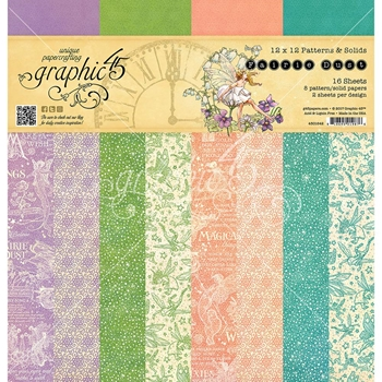 Graphic 45 FAIRIE DUST 12 x 12 Patterns & Solids Paper Pad 4501642