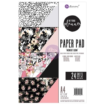 Prima Marketing A4 Paper Pad MIDNIGHT BLOOM 596521