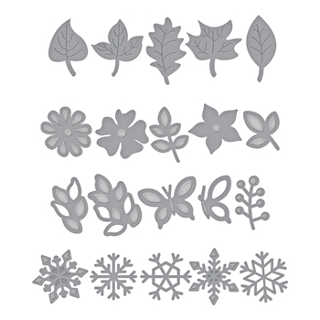 S5-338 Spellbinders WREATH ELEMENTS Etched Dies by Lene Lok