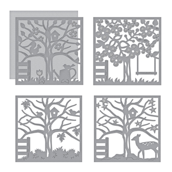 S5-337 Spellbinders FOUR SEASONS SILHOUETTES Etched Dies by Lene Lok