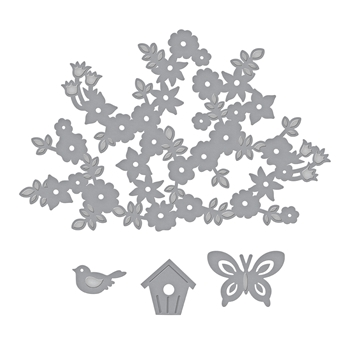 S4-841 Spellbinders SPRING CANOPY AND ELEMENTS Etched Dies by Lene Lok