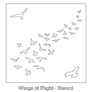 Inkylicious WINGS OF FLIGHT Stencil Set 829529