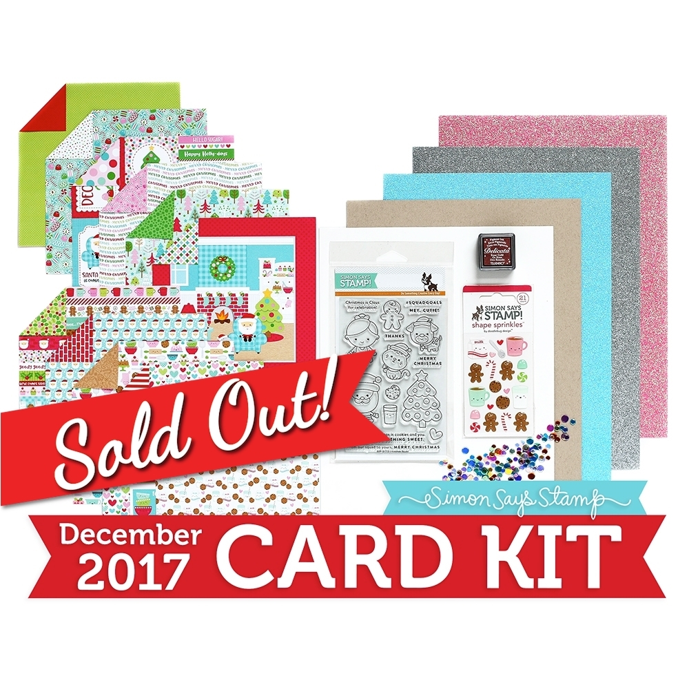 Simon Says Stamp Card Kit of The Month DECEMBER 2017 MILK AND COOKIES ck1217 zoom image