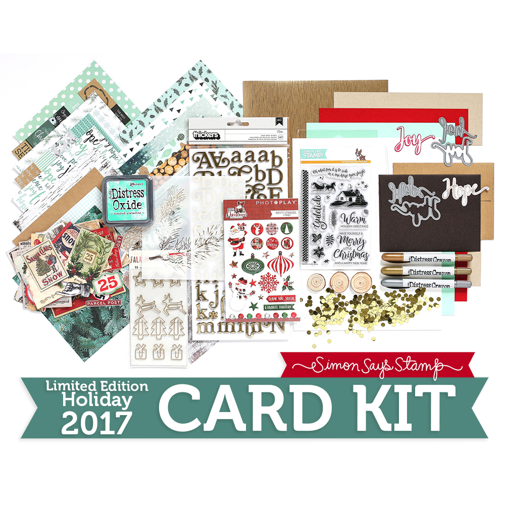 Limited Edition Simon Says Stamp Holiday Card Kit MINT WISHES Christmas 2017 Card Kit SSSMW17