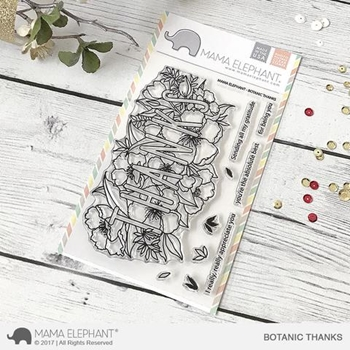 Mama Elephant Clear Stamps BOTANIC THANKS