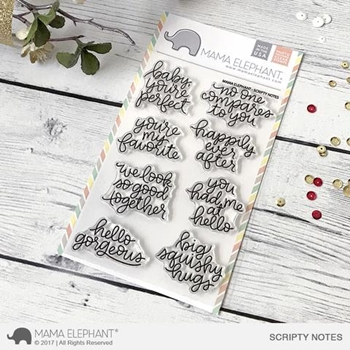 Mama Elephant Clear Stamps SCRIPTY NOTES