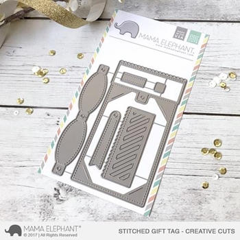 Mama Elephant STITCHED GIFT TAG Creative Cuts Steel Die Set